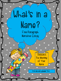 What's in a Name? Research and Narrative Essay
