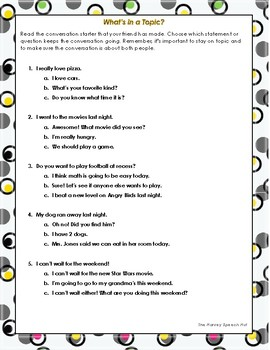 What's in a Topic? An Activity for Topic Maintenance