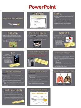 What's in a cigarette lesson plan package