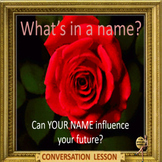 What's in a name – ESL adult and kid power point conversation