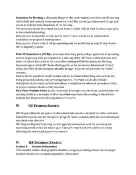 What's in an IEP?