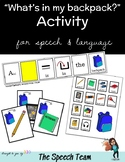 What's in my Backpack Activity for PECS & AAC users