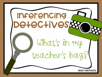 What's in my Teacher's Bag? Inferencing Activity