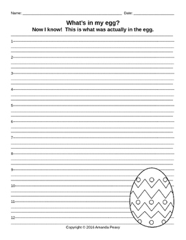 What's in my egg? (Easter egg Science & Writing)