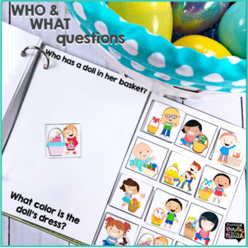 What's in the Basket? {an interactive book with WHO and WHAT questions}