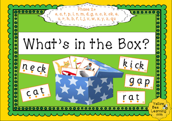 What's in the Box? CVC word and picture matching
