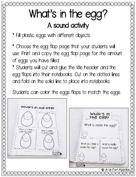 What's in the Egg? A Sound and Predictions Activity