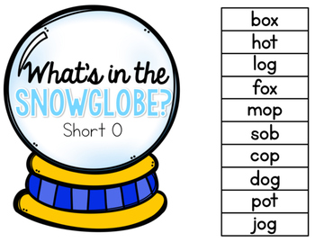 What's in the Snow Globe?  CVC Adapted Book: Short O Version