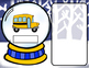 What's in the Snow Globe?  CVC Adapted Book: Short U Version