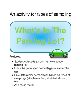 Statistics:  What's in the parking lot? (Ways to collect data)