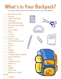 What's in your Backpack? - Icebreaker game - table game -