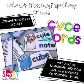 What's missing? Spelling Strips CVCE