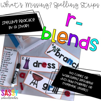 What's missing? Spelling Strips R-blends