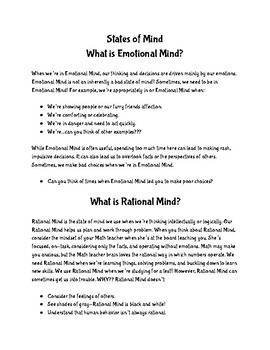 What's my Mindset? A Wise Mind Sorting Activity
