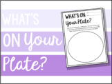 What's on Your Plate: First Day Stress Management Activity