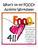 Nutrition for teens: What's on my FOOD? lab, worksheet & answer key (NO PREP!)