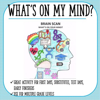 What's on my Mind-First Days Activity, Substitute Teacher Activity
