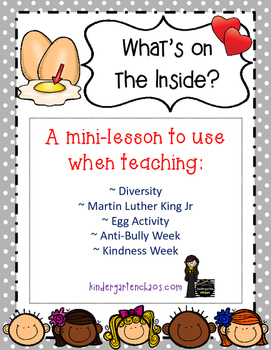 What's on the Inside? Mini Lesson and writing template on Diversity