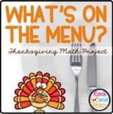 Thanksgiving Problem Solving: Plan a Menu