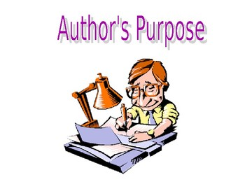 What's the Author's Purpose?