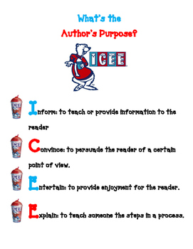 What's the Author's Purpose? ICEE