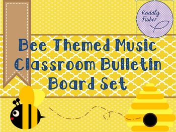 What's the BUZZ about Music? -  Bee themed music bulletin board
