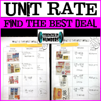 What's the Best Deal?  Unit Rate Grocery Ad Partner Work