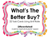 What's the Better Buy / Best Deal Unit Rate Math Task Cards