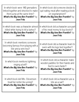 What's the Big Idea Ben Franklin? Quiz Cards