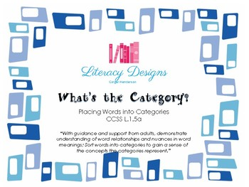 What's the Category? (Placing Words into Categories)