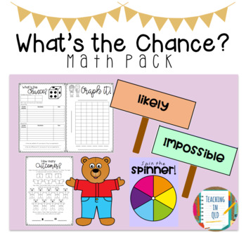 What's the Chance? Math pack