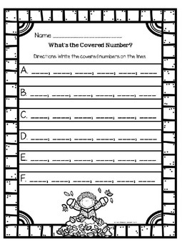 What's the Covered Number? Fall Center Activity