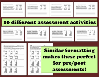 What's the Error? multiplication error analysis task cards + printables set
