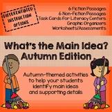 NEW! What's the Main Idea? Fall/Autumn Edition (Main Idea and Details)