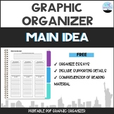What's the Main Idea Graphic Organizer