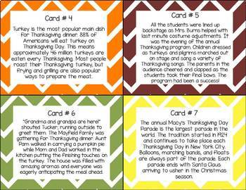 NEW! What's the Main Idea? Thanksgiving Edition (Main Idea and Details)
