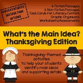 NEW! What's the Main Idea? Thanksgiving Edition (Main Idea