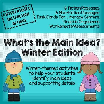NEW! What's the Main Idea? Winter Edition (Main Idea and Details)