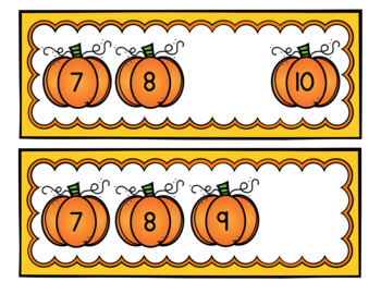 What's the Missing Number? - Pumpkin Theme