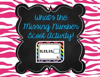 What's the Missing Number Scoot Activity (0-100)