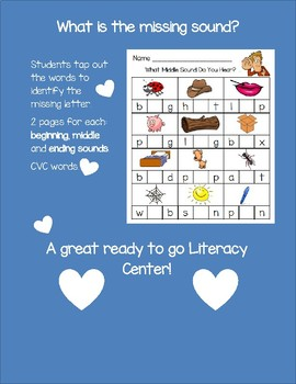 What's the Missing Sound? Literacy Center or Independent Activity