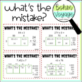 What's the Mistake? Area Model Multiplication Mistake Finder