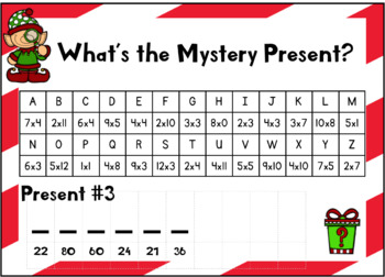 What's the Mystery Present? Multiplication Crack a Code