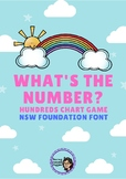 What's the Number? Hundreds Chart Game - RAINBOW Themed (N