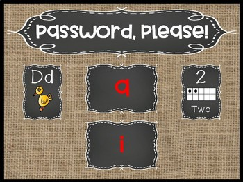 What's the Password? (EDITABLE Classroom Entrance Posters)