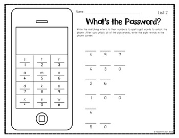 What's the Password? Sight Word Activity // FREEBIE