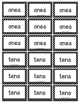 What's the Place Value Activity Page (ones and tens)