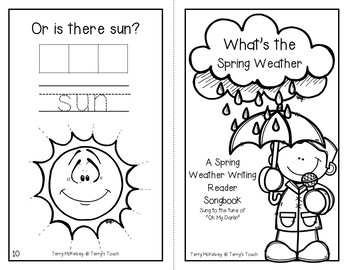 What's the Spring Weather Literacy, Math and Craftivity