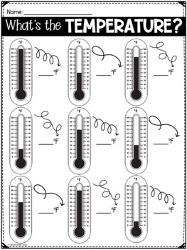 What's the Temperature? (VA SOL 2.11) FREEBIE