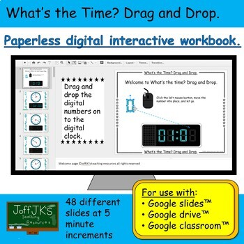 What's the Time? Drag and Drop Google Classroom Interactive Workbook